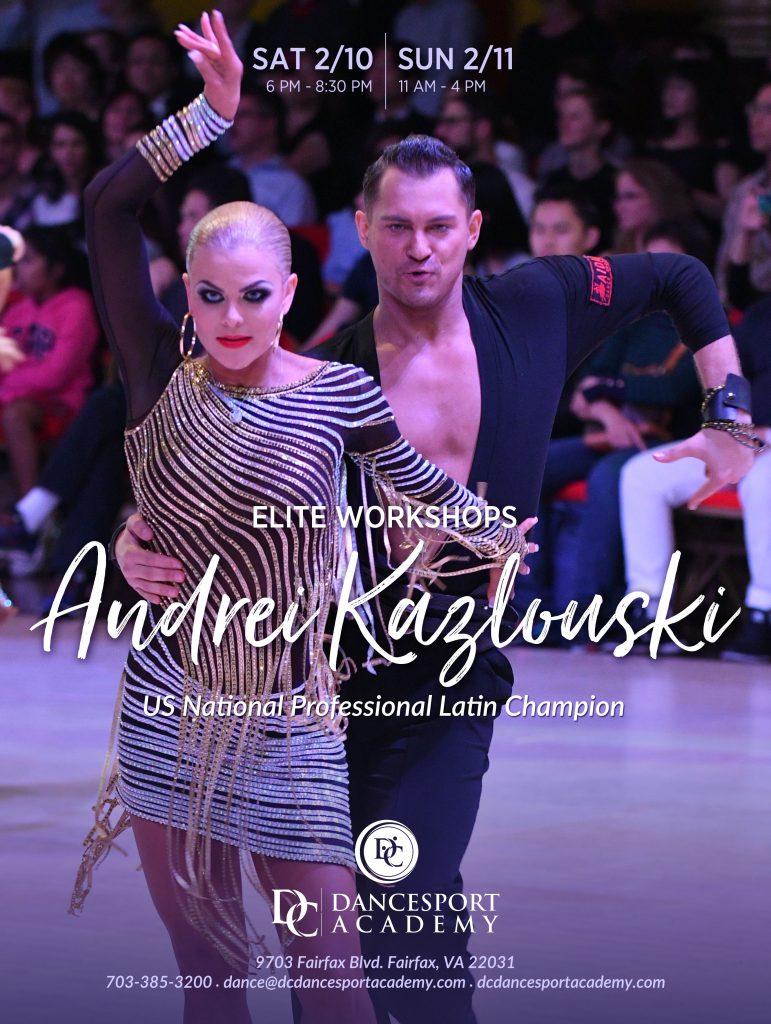 Elite Workshops With US National Professional Latin Champion Andrei Kazlouski