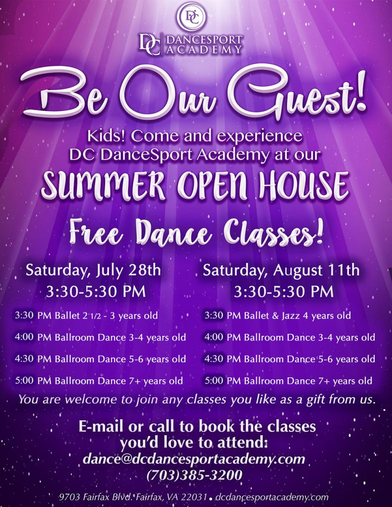 Summer Open House at DC DanceSport Academy
