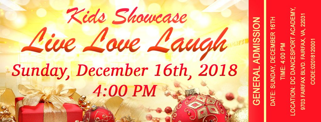 Kids Showcase Tickets at DC DanceSport Academy