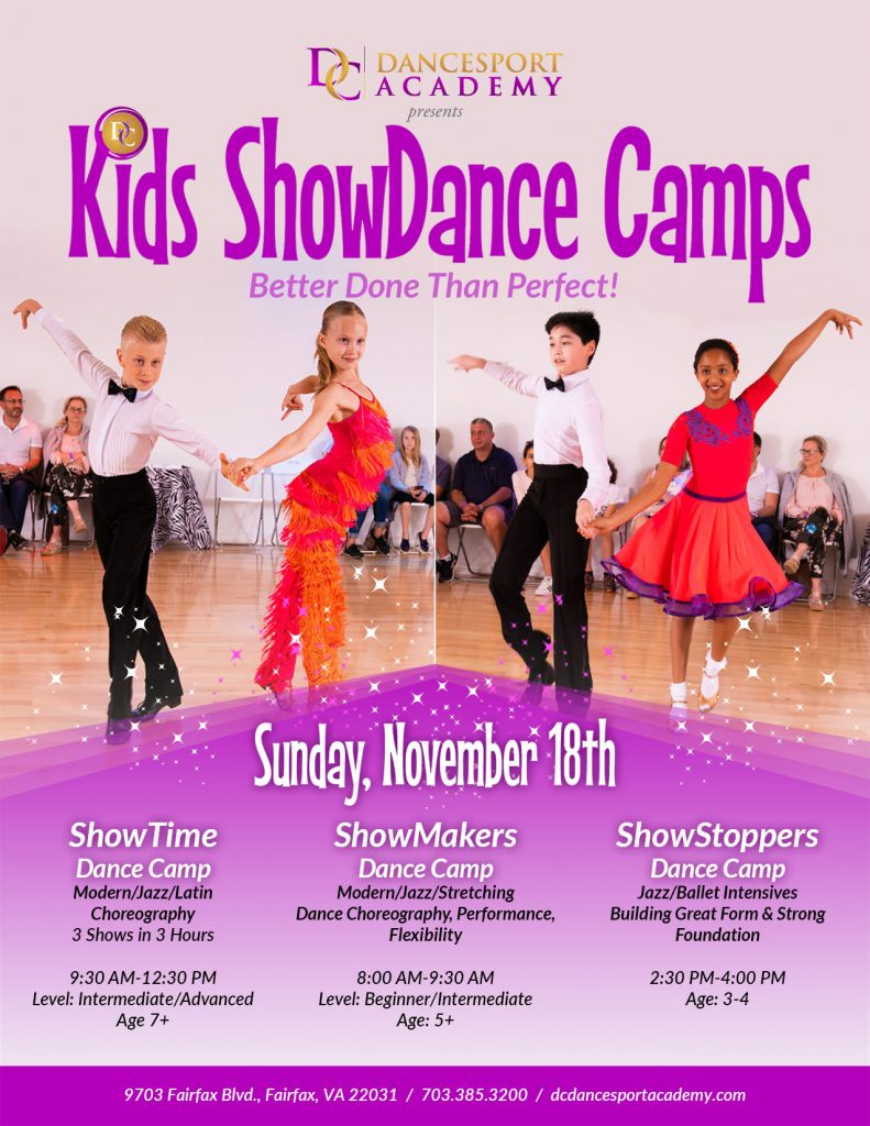 Kid Showdance Camps at DC Dancesport Academy