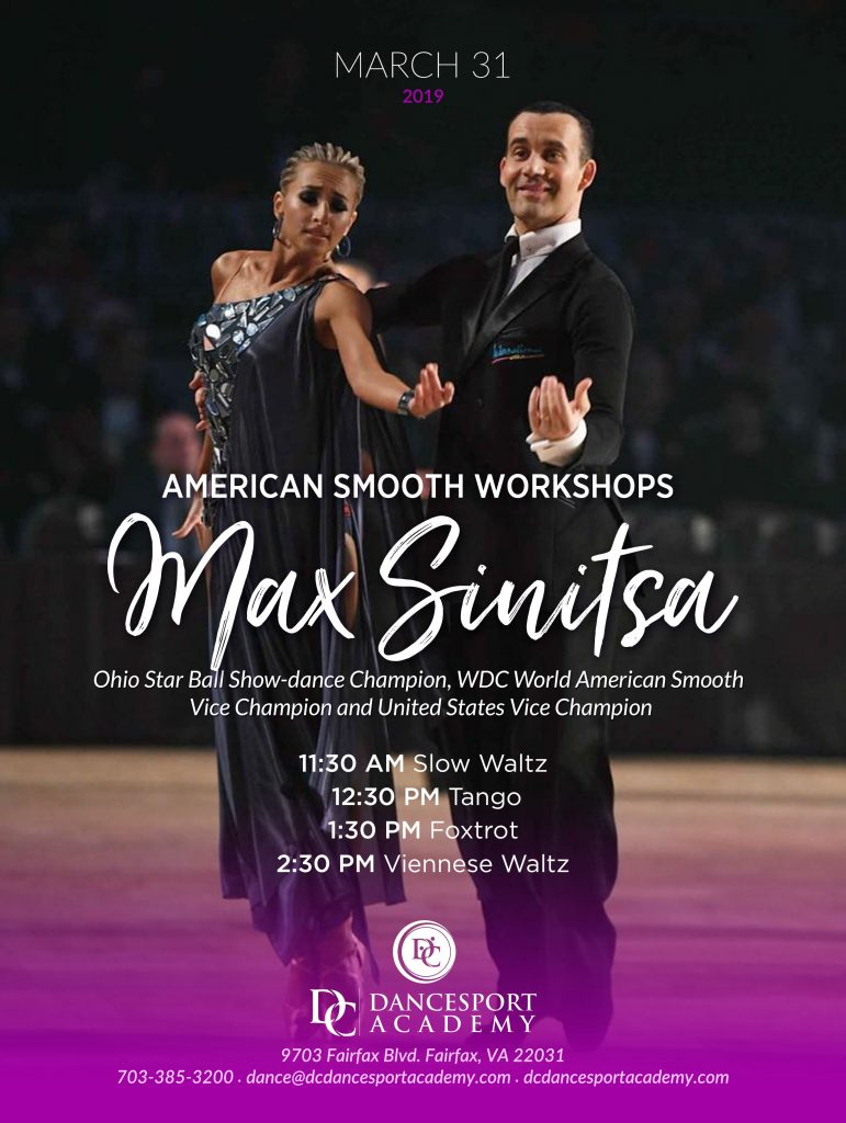 Elite Workshops With WDC World American Smooth Vice Champion Max Senitsa