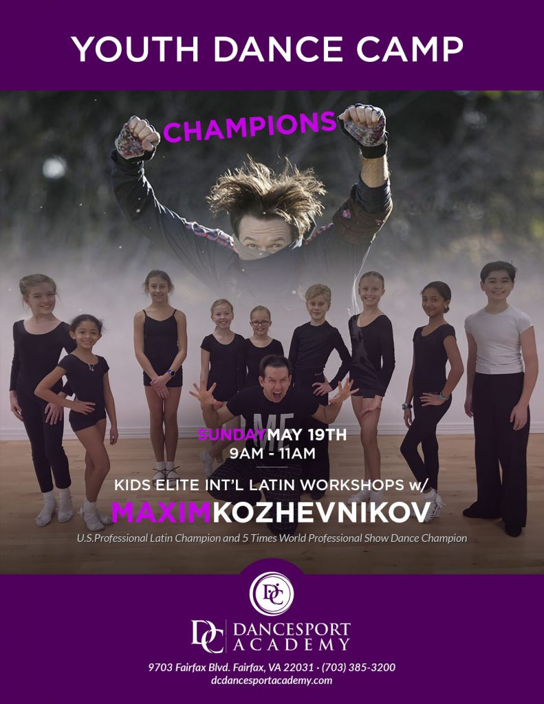 Youth Dance Camp w/ Maxim Kozhevnikov on Sunday, May 19, 2019