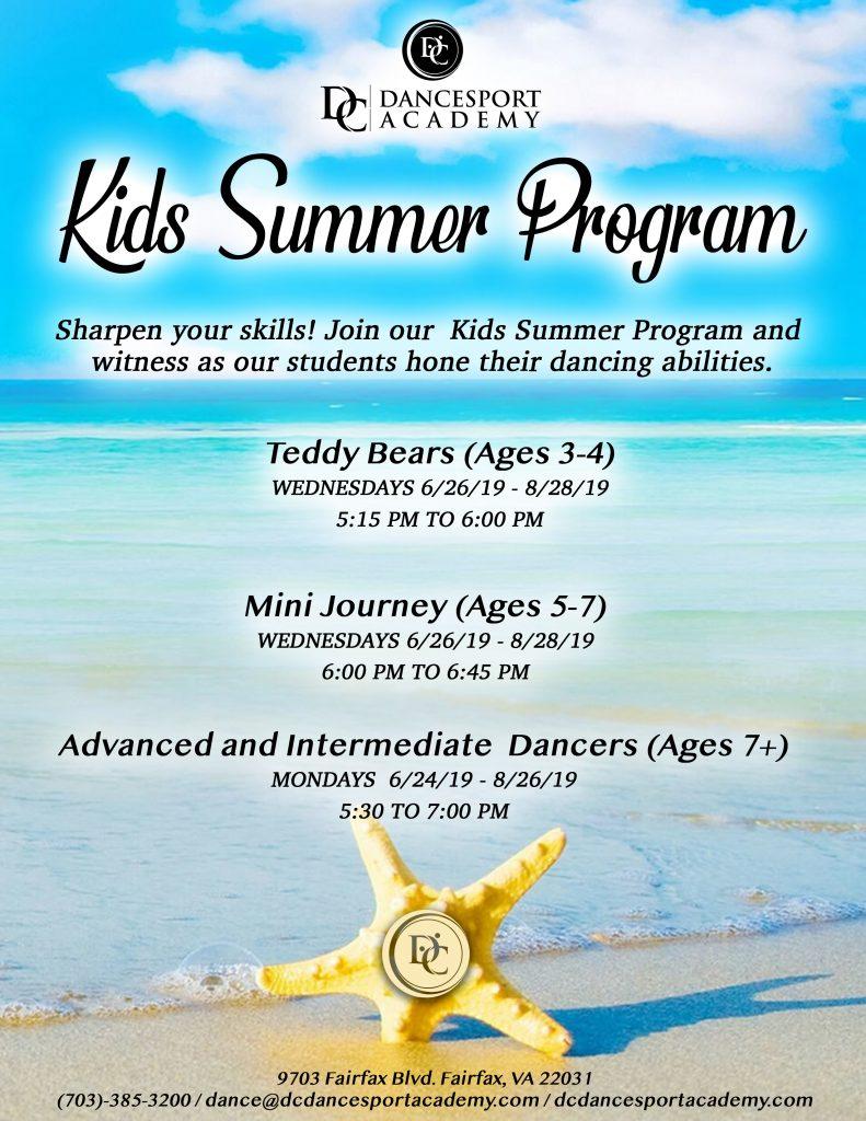 Kids Summer Dance Program 2019 at DC DanceSport Academy