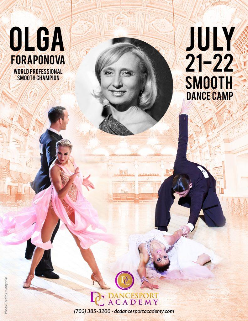Smooth Dance Camp with Olga Foraponova at DC DanceSport Academy Mosaic