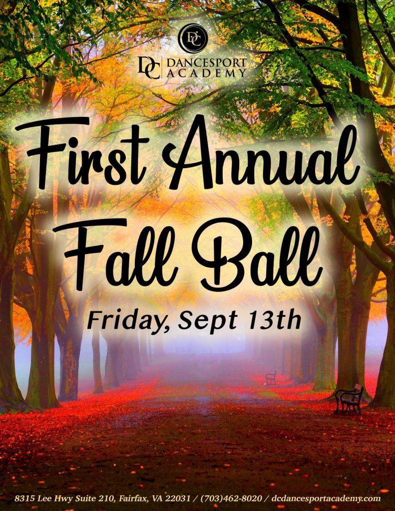 First Annual Fall Ball at DC DanceSport Academy