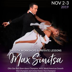 Smooth Workshops with Max Sinitsa at DC DanceSport Academy on November 3rd