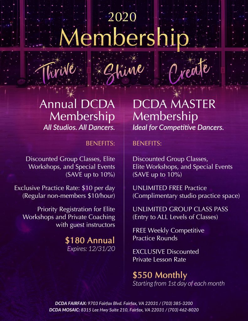 DCDA 2020 Membership