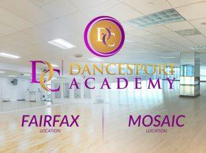 DC DanceSport Academy's Mosaic Distroct & Fairfax Dance Studios are both open starting Monday, June 15th, 2020